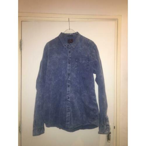 Scotch & Soda Heren spijkerblouse, denim overhemd maat XXL
