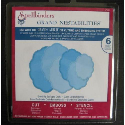 Spellbinders Grand Big Scalloped Ovals **nieuw**