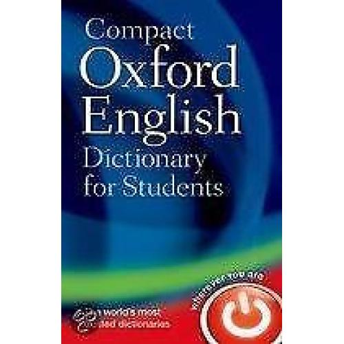 Compact Oxford English Dictionary for Universi 9780199296255